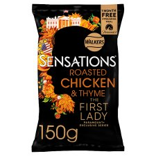 Sensations Roast Chicken And Thyme Crisps 150 G