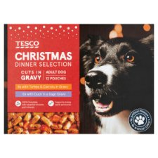 Tesco Christmas Dinner Selection For Dogs 12X100