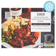 Tesco Liver And Bacon With Colcannon Mash 400G