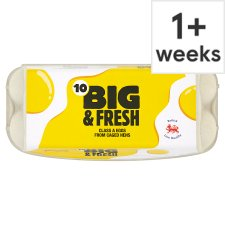 Big And Fresh Mixed Sized Eggs 10 Pack