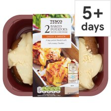 Tesco Baked Potatoes With Cheese 450G