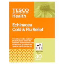 Tesco Echinacea Cold And Flu Relief 30S
