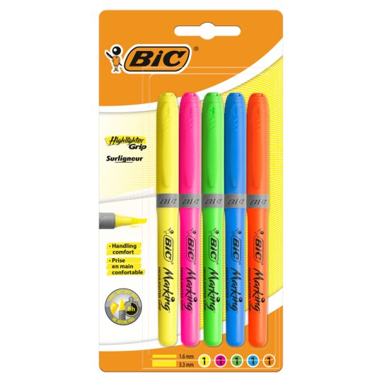 image 1 of Bic 5 Pack Highlighters