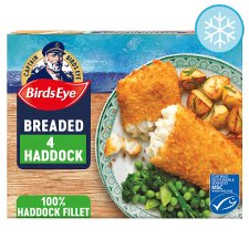 Birds Eye 4 Large Breaded Haddock 440G