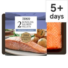 Tesco 2 Boneless Salmon Fillets 260G