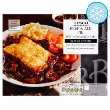 Tesco Beef And Ale Pie With Creamy Mash 400G