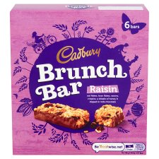 Cadbury Brunch Bars Raisin 6X32g