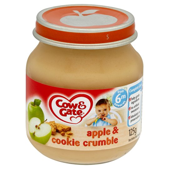Cow And Gate Apple And Cookie Crumble Jar 125G 6 Mth+