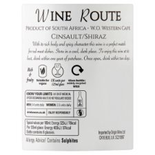 image 3 of Wine Route Cinsault Shiraz 75Cl