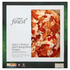 Tesco Finest Spicy Chicken And Chargrilled Pepper Pizza 456G