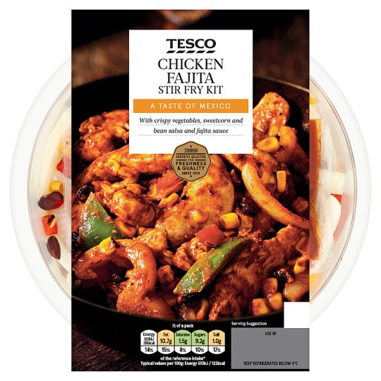 Tesco Chicken Fajita Stir Fry Kit 560G