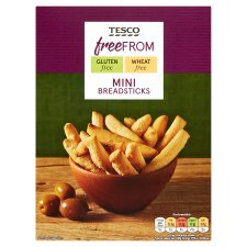 Tesco Free From Mini Breadsticks 125G