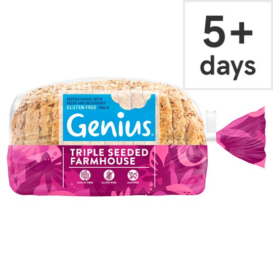 Genius Gluten Free Triple Seeded Farmhouse Loaf 535G
