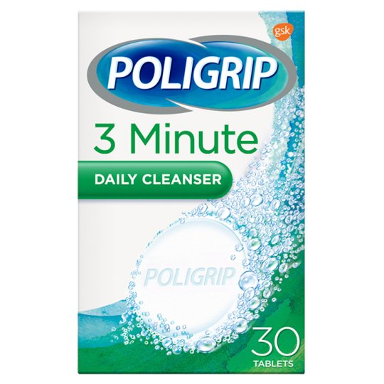 image 1 of Poligrip 3 Minute Cleanser X30