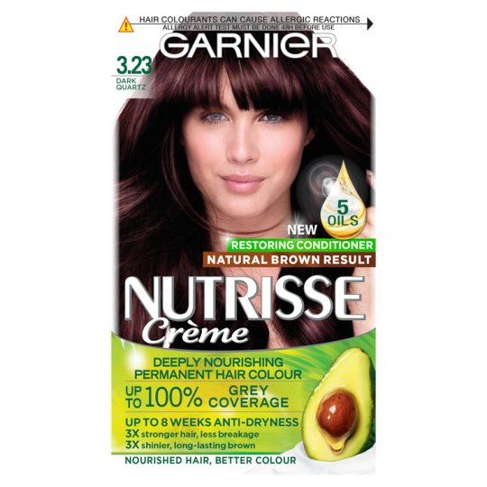 image 1 of Garnier Nutrisse 3.23 Dark Quartz Brown Permanent Hair Dye
