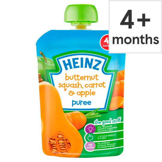 Heinz Savoury Pouch Butternut Squash Carrot And Apple 100G