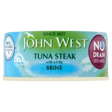 John West No Drain Tuna Steak 110G Brine