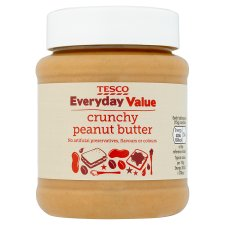 Tesco Everyday Value Crunchy Peanut Butter 340G