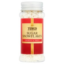 Tesco Sugar Snowflakes White 46G