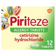 Piriteze Allergy Tablets 12S