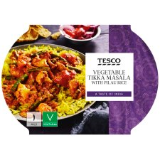 Tesco Vegetable Tikka Masala With Rice 450G