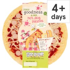 Tesco Goodness 2 Mini Hot Dog Pizza's 250G