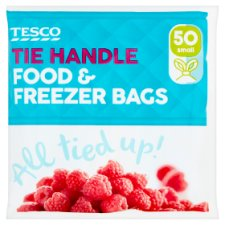Tesco Tie Handle Freezer Bags Small 50'S