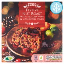 Tesco Festive Nut Roast With Mulled Wine And Cranberry 480G
