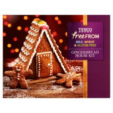 Tesco Free From Gingerbread House Kit 420G