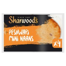 Sharwoods Mini Peshwari Naan 4 Pack 260G
