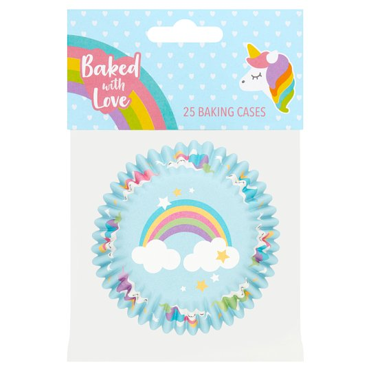 Baked With Love Unicorn Baking Cases 25S