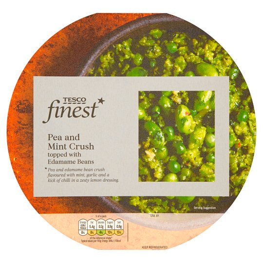 Tesco Finest Pea And Mint Crush With Edamame 350G