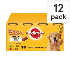 image 1 of Pedigree Dog Food Tins Mixed Variety in Jelly 12x385g