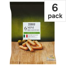Tesco 6 Pack Mini Breadsticks 120G