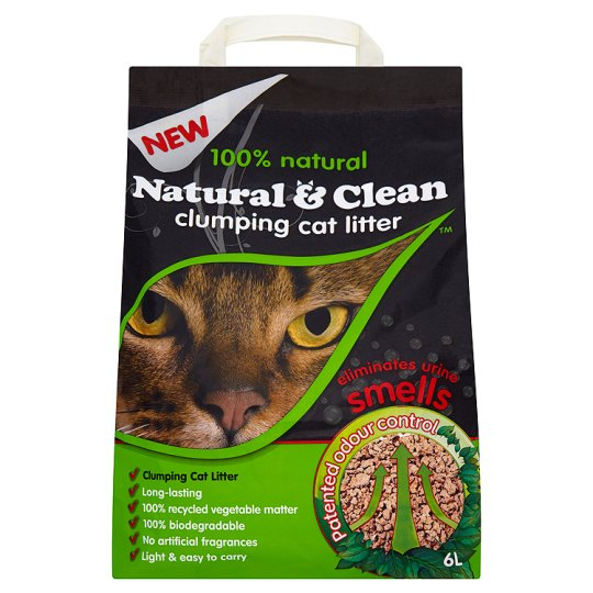 Natural And Clean Clumping Cat Litter 6 Litre