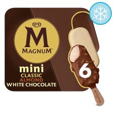 Magnum Mini Classic Almond & White 6 Pack 330Ml