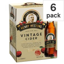 Henry Westons Vintage Cider 6X500ml Bottle