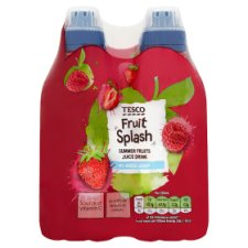 Tesco Fruit Splash Summer Fruit 4X250ml