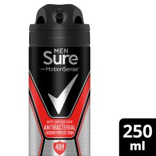 Sure For Men Antibacterial Odour Protection Antiperspirant Deodorant 250Ml