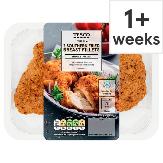 Tesco Southern Fried Breaded Chicken Fillets 300G