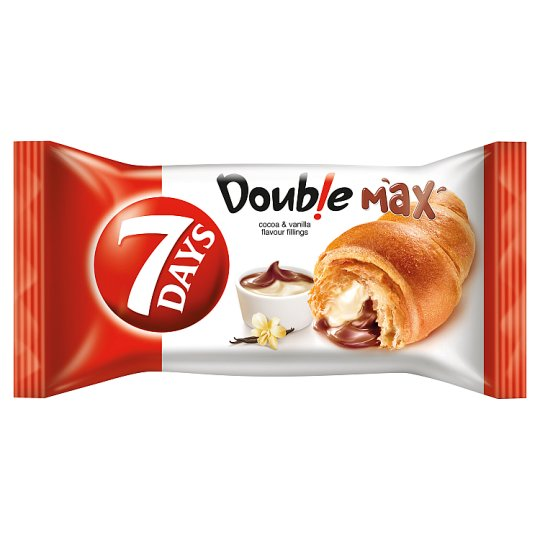 7 Days Double Max Croissant With Cocoa And Vanilla 80G