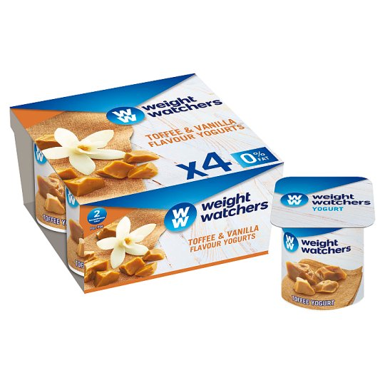 image 1 of Weight Watchers Toffee And Vanilla Yogurt 4 X110g
