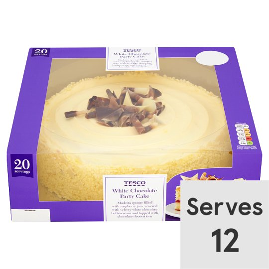 Tesco Large White Chocolate Celebration Cake Tesco Groceries