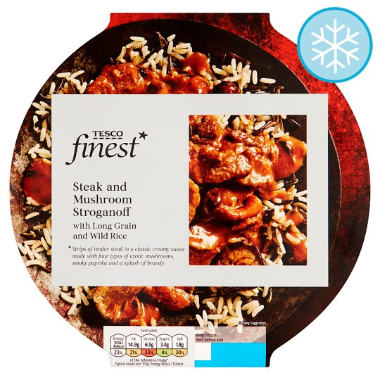 Tesco Finest Steak Stroganoff 400G