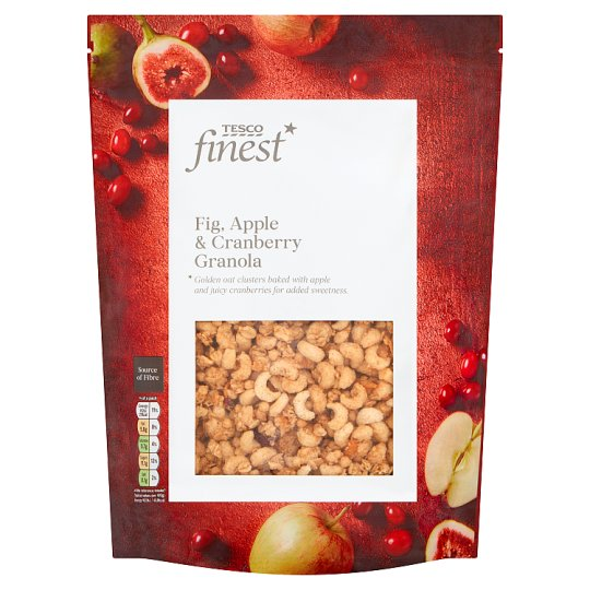 Tesco Finest Apple Cranberry And Fig Granola 450G