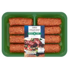 Tesco 8 Beef, Red Pepper And Carrot Koftas 600G
