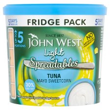 John West Spreadables Fridge Pack Tuna Mayo Sweetcorn Light 255g