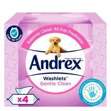 Andrex Gentle Clean Washlets 4 Pack