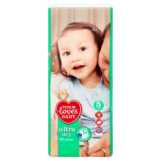 Tesco Loves Baby Ultra Dry Size 5 Economy Pack 40