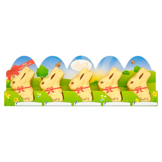 image 1 of Lindt Gold Milk Chocolate Easter Bunny 5X10g